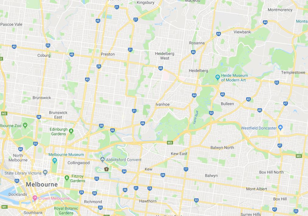 Google map Rosanna